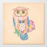 Southwest Owls Canvas Print