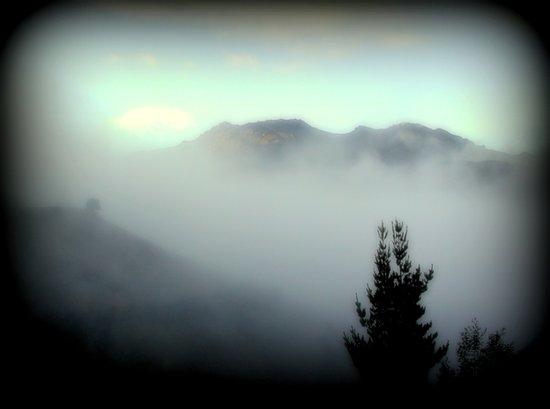 Fog surrounding Cradle Top Mountain - Tasmania Art Print