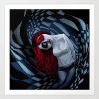 The Dark Side Of My Mind… Art Print