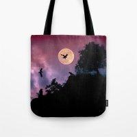 Crow meeting Tote Bag