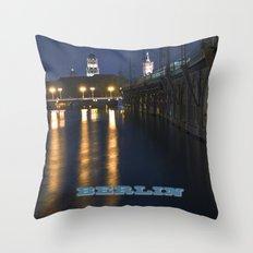 Berlin Night Skyline On … Throw Pillow