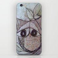 Owl couple iPhone & iPod Skin