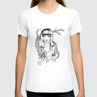 Tree Woman Womens Fitted Tee White SMALL