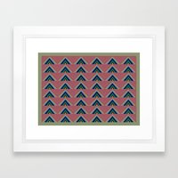 Rainbow Triangle Chevron Print Framed Art Print