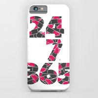 iPhone & iPod Case featuring 24-7/365 (Lipstick) by yumgsta