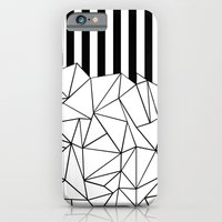 Abstract Outline Stripes Black and White iPhone 6 Slim Case
