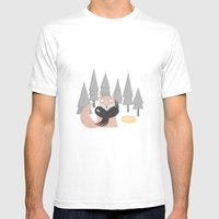 Le Corbeau Et Le Renard Mens Fitted Tee White SMALL
