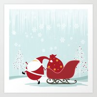 Happy Santa Art Print