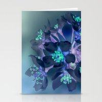 FLOWERS -Blue Blossoms Stationery Cards