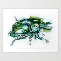 Great Green Goliath Art Print