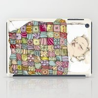 sleeping child iPad Case