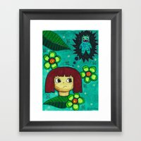 Fighting With Your Demon… Framed Art Print