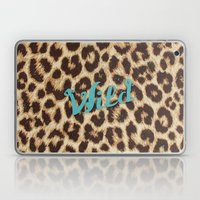 Leopard Print Teal Blue Wild Brown Girly Pattern Laptop & iPad Skin