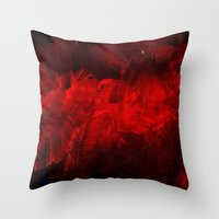 Dark Red Throw Pillow Throw Pillow