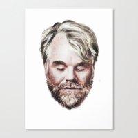 Philip Seymour Hoffman Portrait Canvas Print