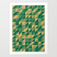 Honey Fields Art Print