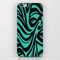Blue & Black Waves iPhone & iPod Skin