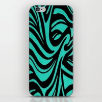 Blue & Black Waves iPhone & iPod Skin