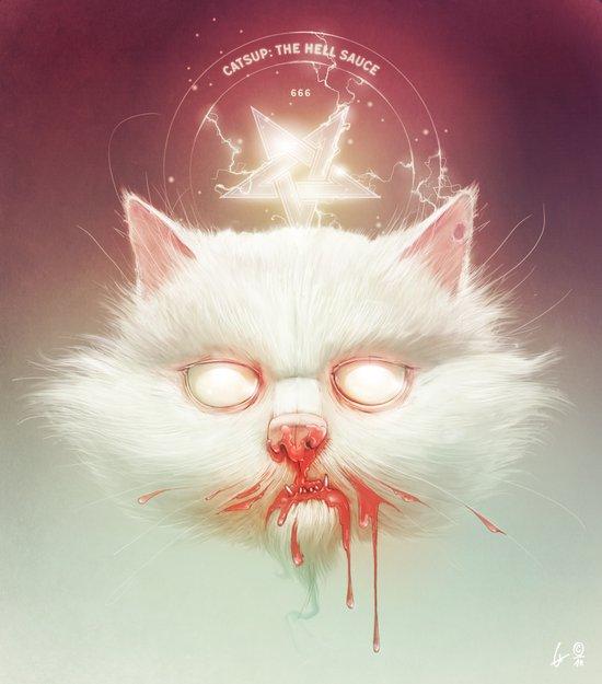 The Hell Kitty Art Print
