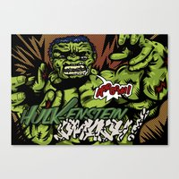 Hulkenstein SMASH! Canvas Print