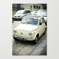 PARIS VI - FIAT 500 Canvas Print