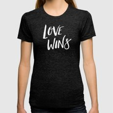 LOVE WINS Womens Fitted Tee Tri-Black SMALL