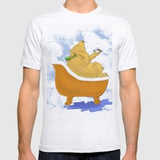 Bubble Bath - Bear in the Tub! Mens Fitted Tee Ash Grey SMALL