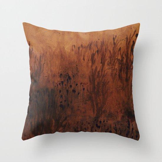 Gold Print Throw Pillow