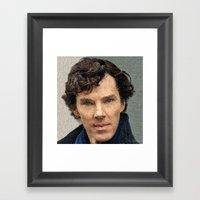 Benedict Cumberbatch -Hasty portrait  Framed Art Print