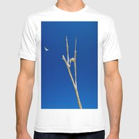 Soaring High in Blue Skies Mens Fitted Tee White SMALL