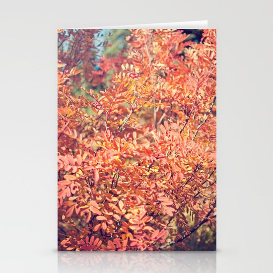 Red Fall Stationery Card