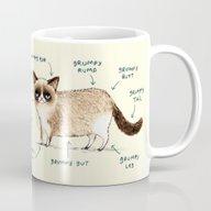 Anatomy Of A Grumpy Kitt… Mug
