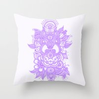 Purple Henna Throw Pillow