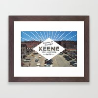 Welcome to Keene Framed Art Print
