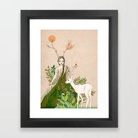 Mori Girl Framed Art Print