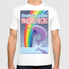 Embrace The Squee! Mens Fitted Tee SMALL White