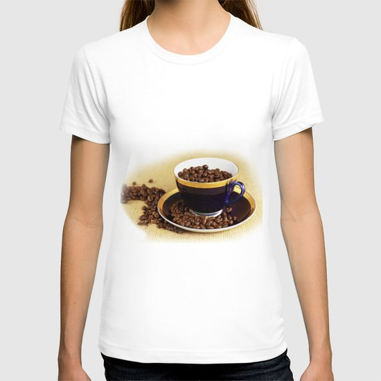 Blue coffee cup kitchen image T-shirt