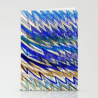 Blue Mountains and waves Stationery Cards