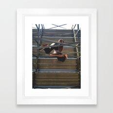 stands Framed Art Print