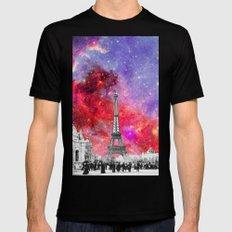 NEBULA VINTAGE PARIS SMALL Black Mens Fitted Tee