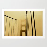 SF Golden Gate Bridge  Art Print