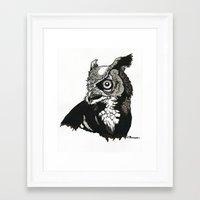 Eastern Screech Owl Framed Art Print