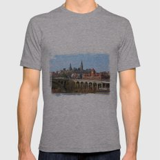 Georgetown Potomac River Waterfront Washington DC Mens Fitted Tee Athletic Grey SMALL