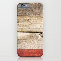 Wood, Wood, Red iPhone 6 Slim Case