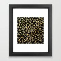 Broken Gold Framed Art Print