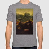 NO MONA LISA Mens Fitted Tee Tri-Grey SMALL