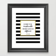 Coco Gold Irreplaceable … Framed Art Print