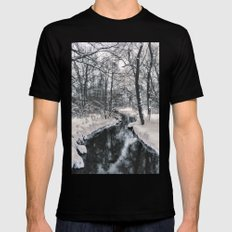 Almost frozen (3\4-BW, HDR) SMALL Black Mens Fitted Tee