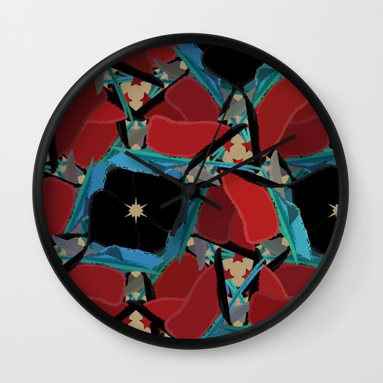 Floral Madness 2 Wall Clock