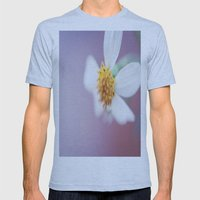 Small White Daisy 2 Mens Fitted Tee Athletic Blue SMALL